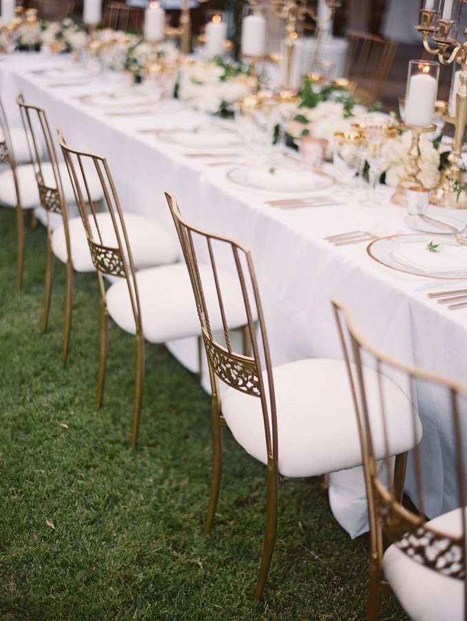 Lane Dittoe Gold Wedding Chairs