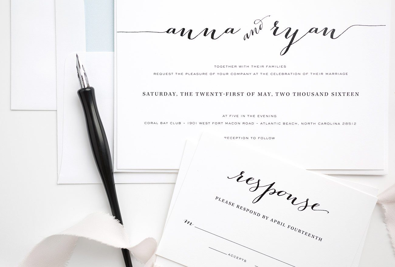 Simple Wedding Invitation response card