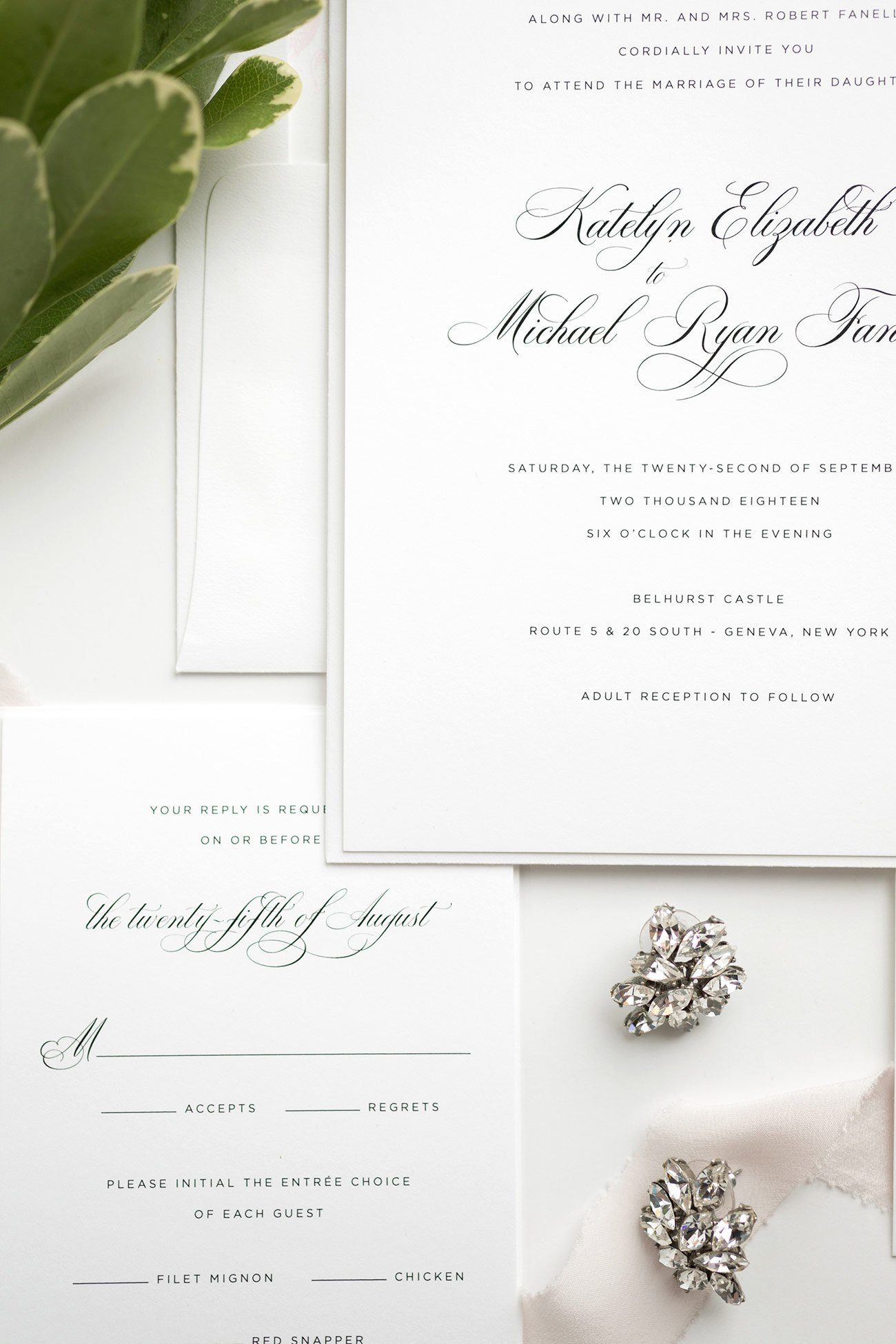 Romantic Wedding Invitations and Response Wording