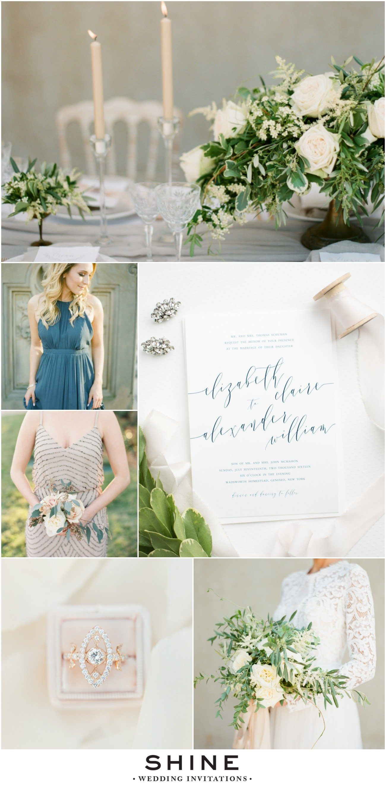 Romantic Navy And Blush Wedding Inspiration