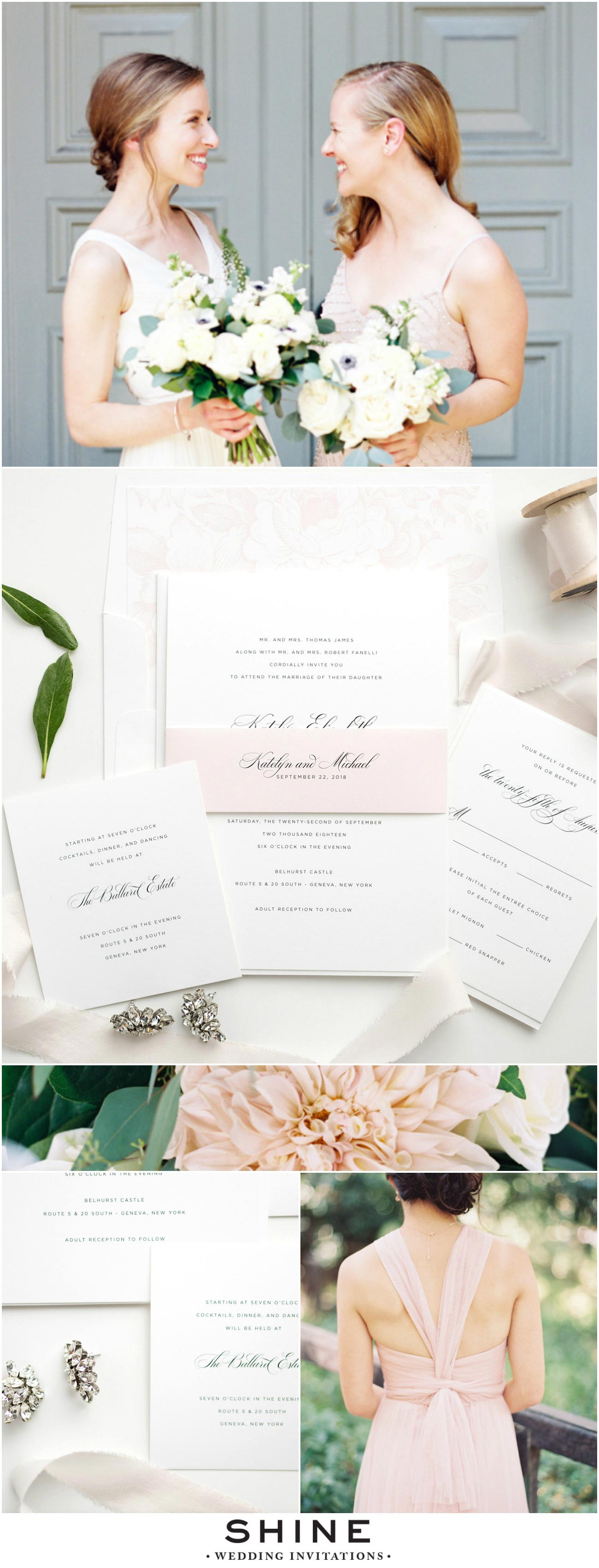 Elegant Blush Wedding Inspiration Mood Board