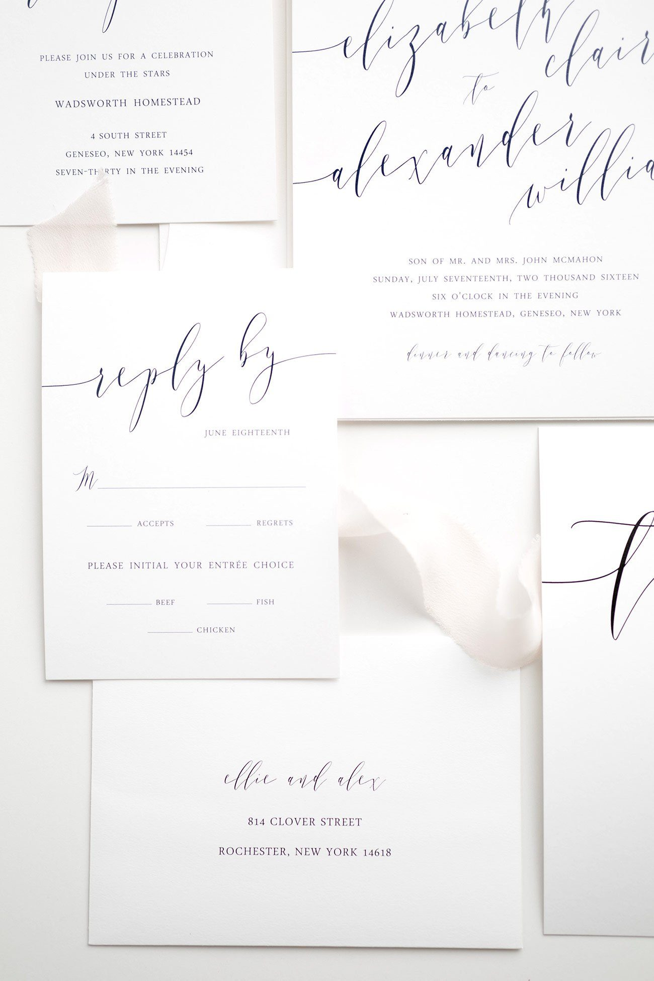 Calligraphy Response Cards