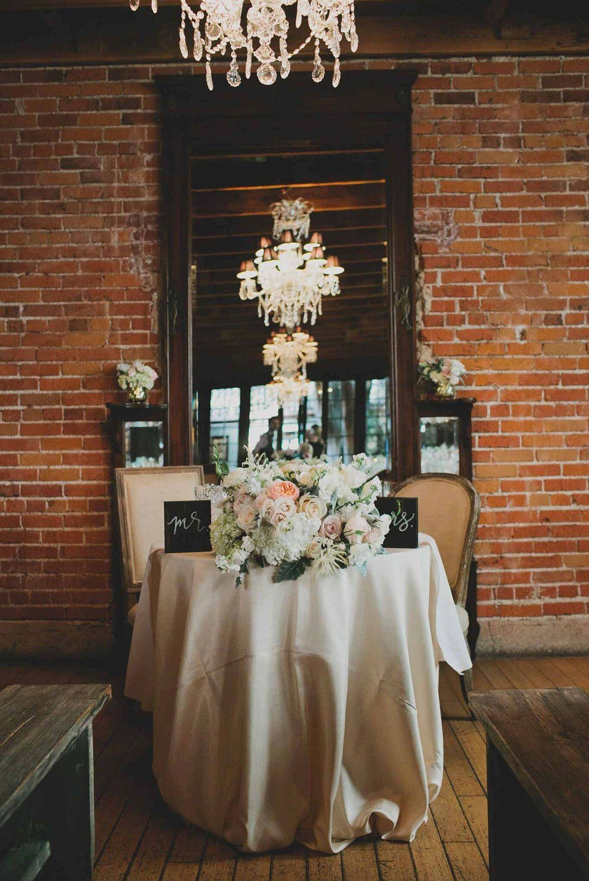 Urban and Romantic Sweetheart Table