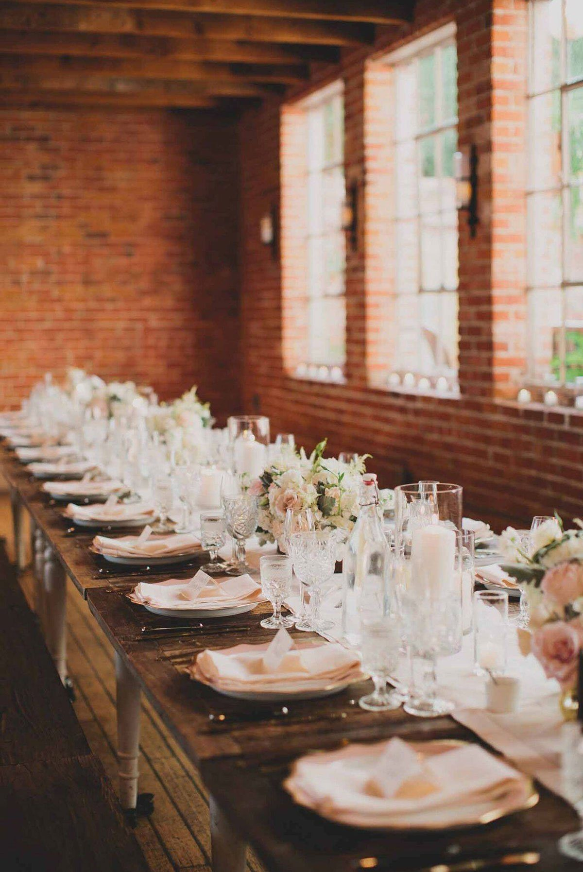 Urban and Romantic Wedding Reception