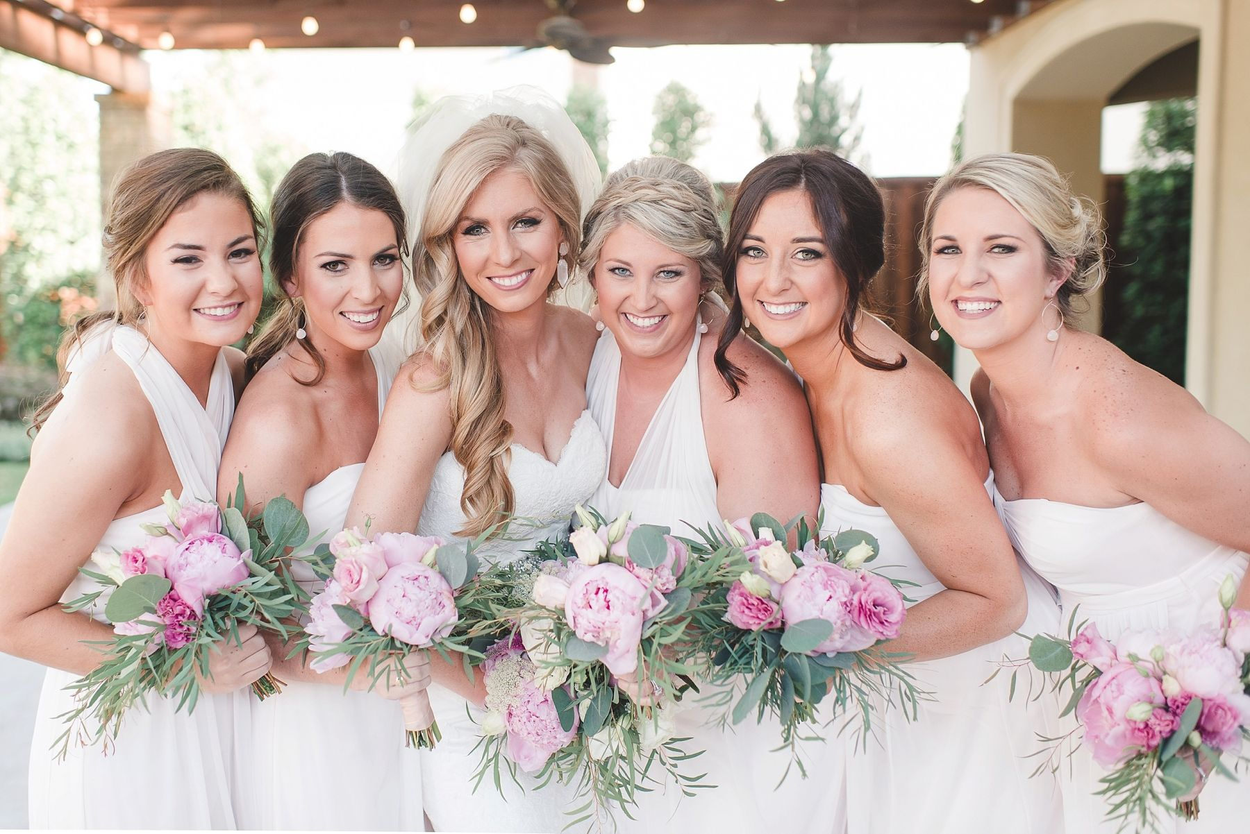 Real Wedding Bridal Party in Blush