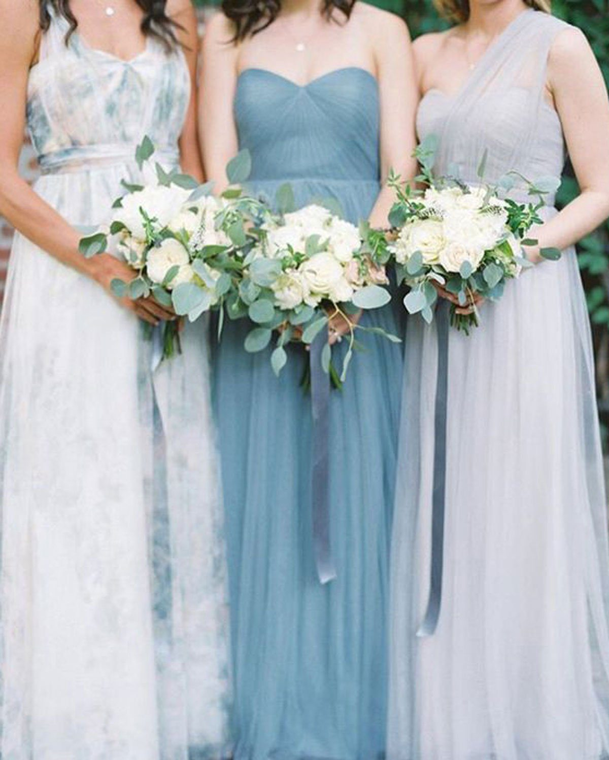 Dusty Blue Bridesmaids Dresses