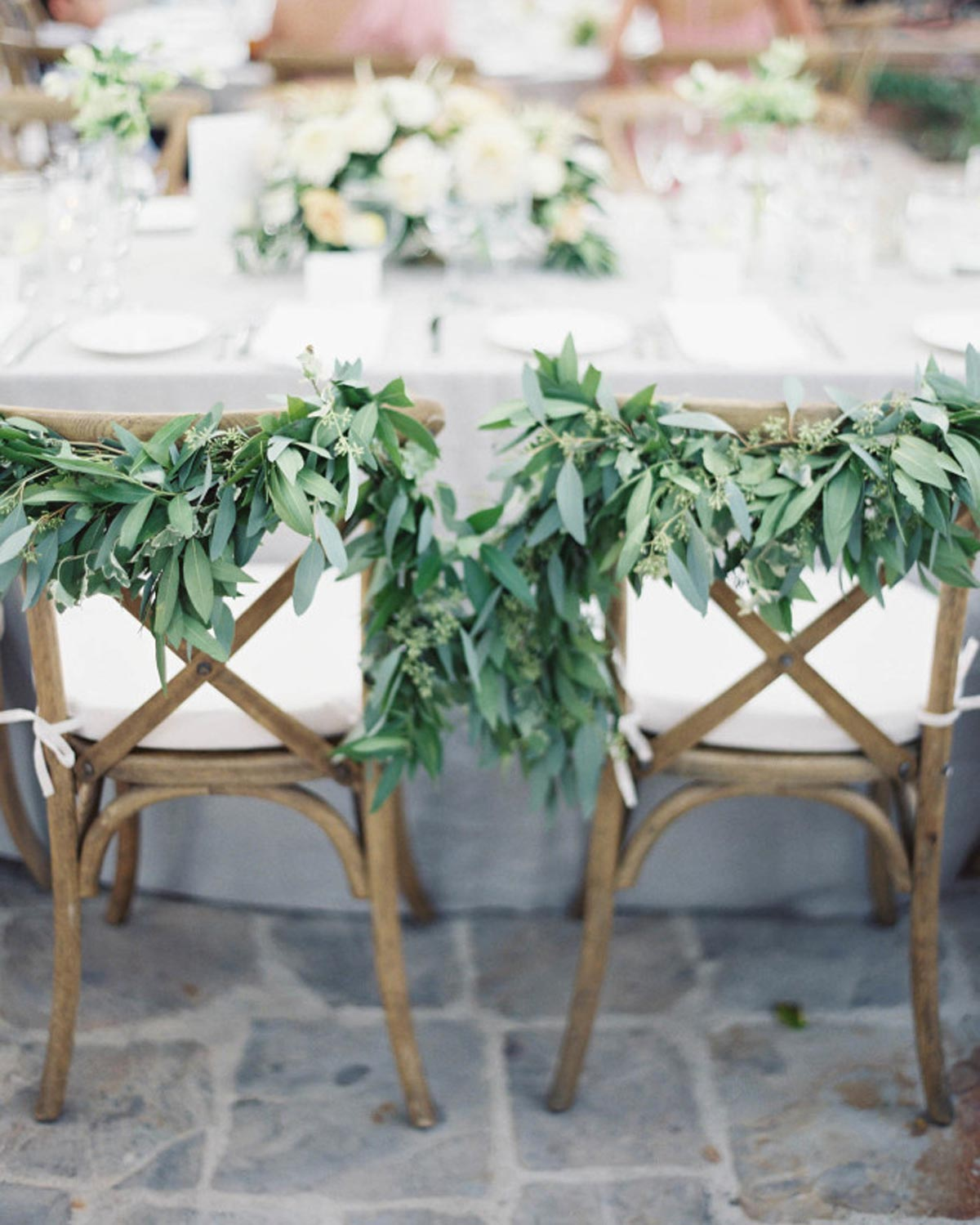Greenery Garland Wedding Chairs