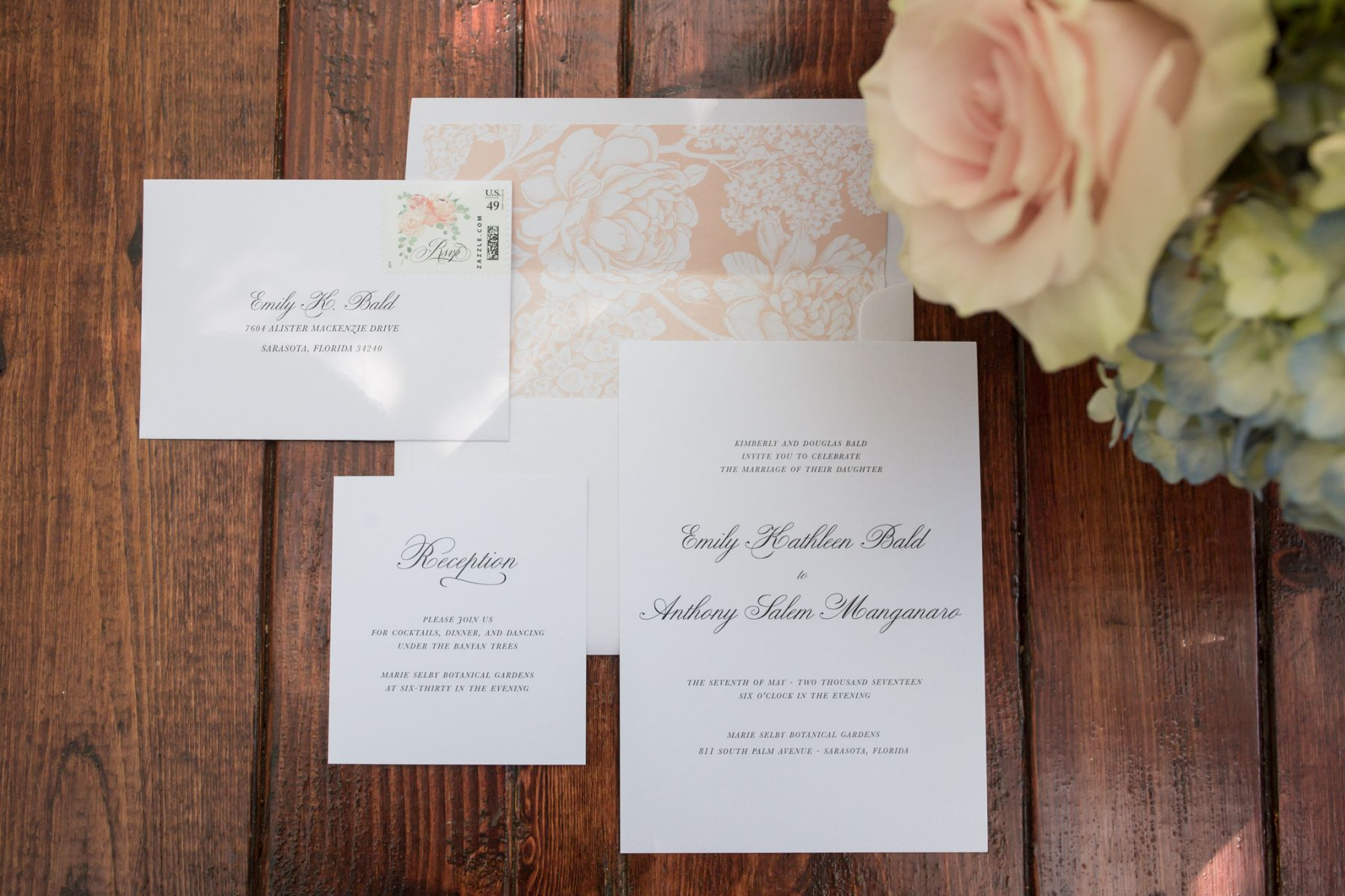 Emily & Anthony's Invitation Suite