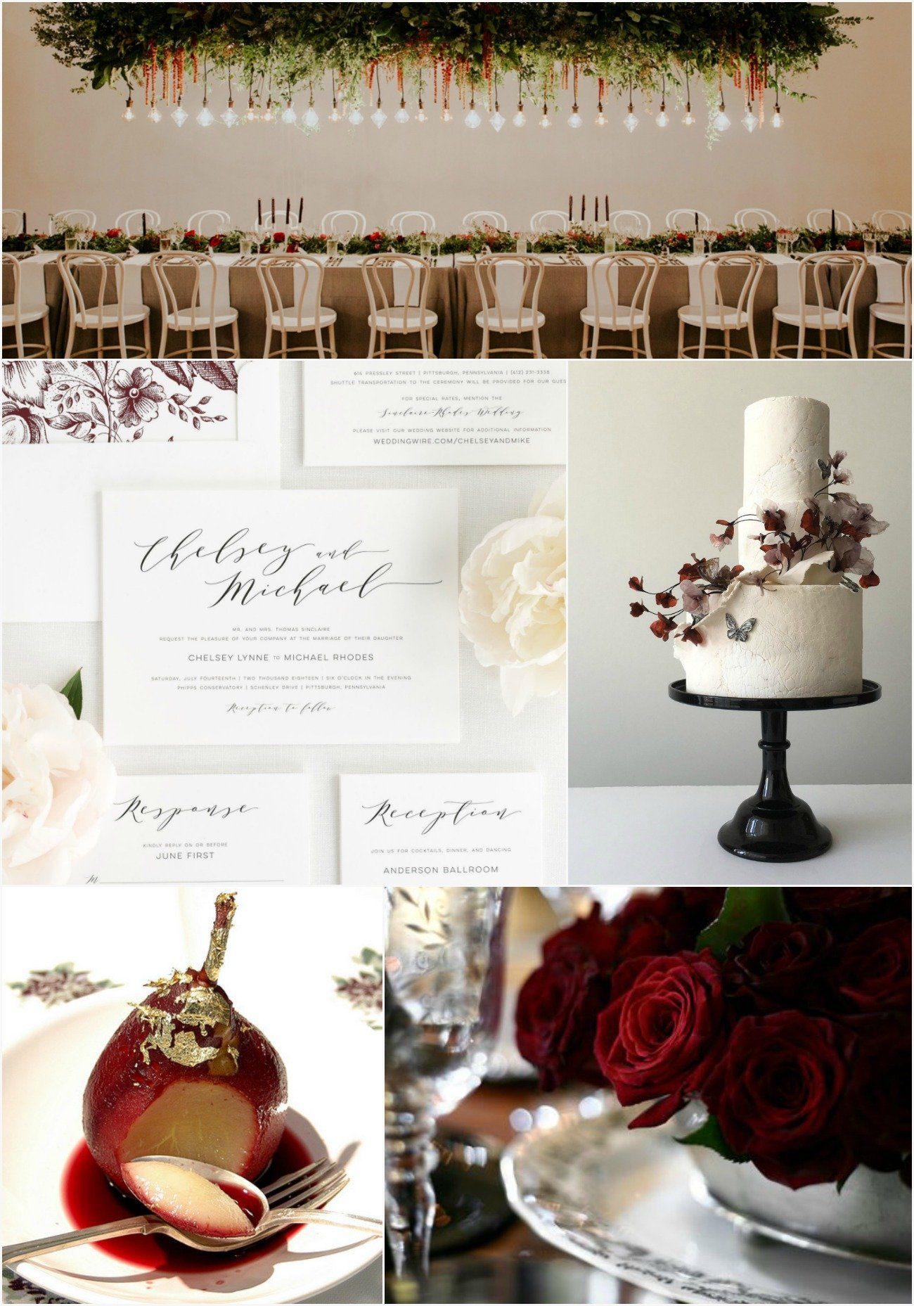Cabernet and White Wedding Inspiration