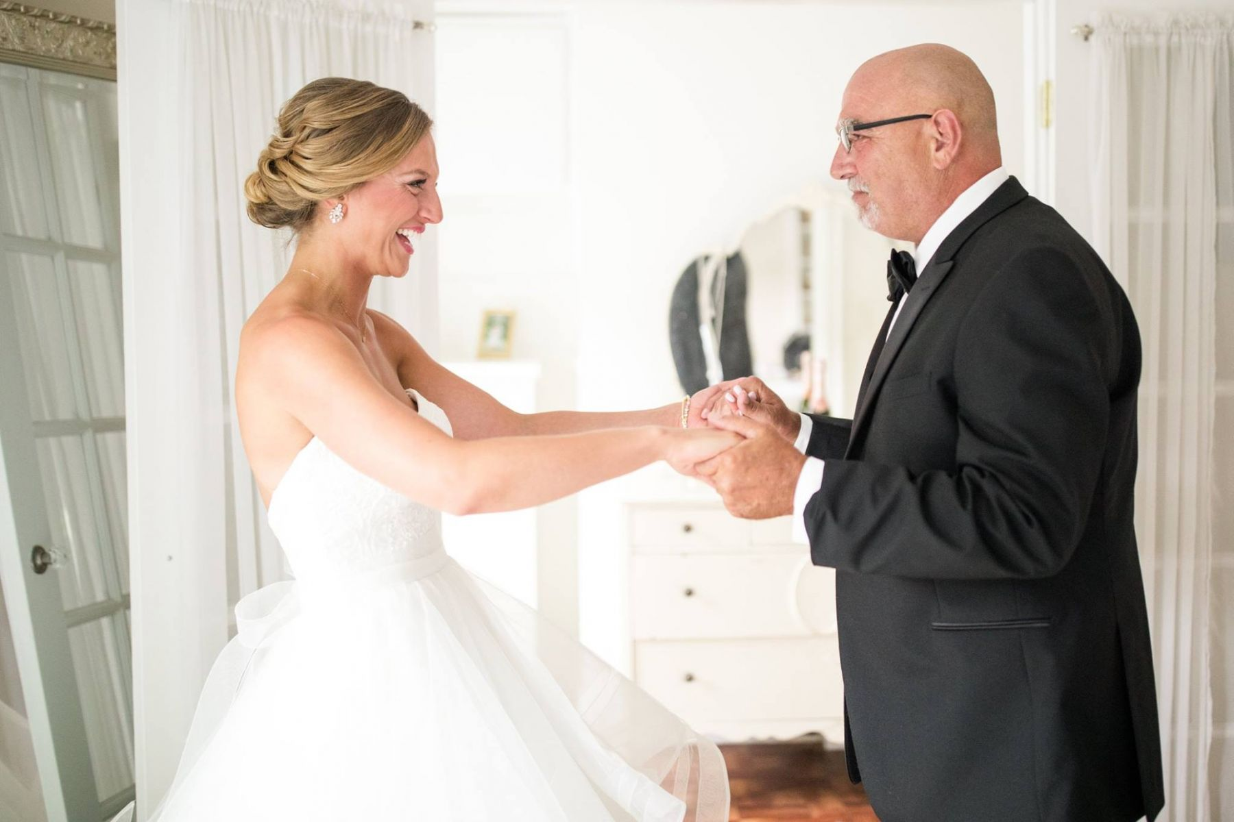 bridal reveal to father
