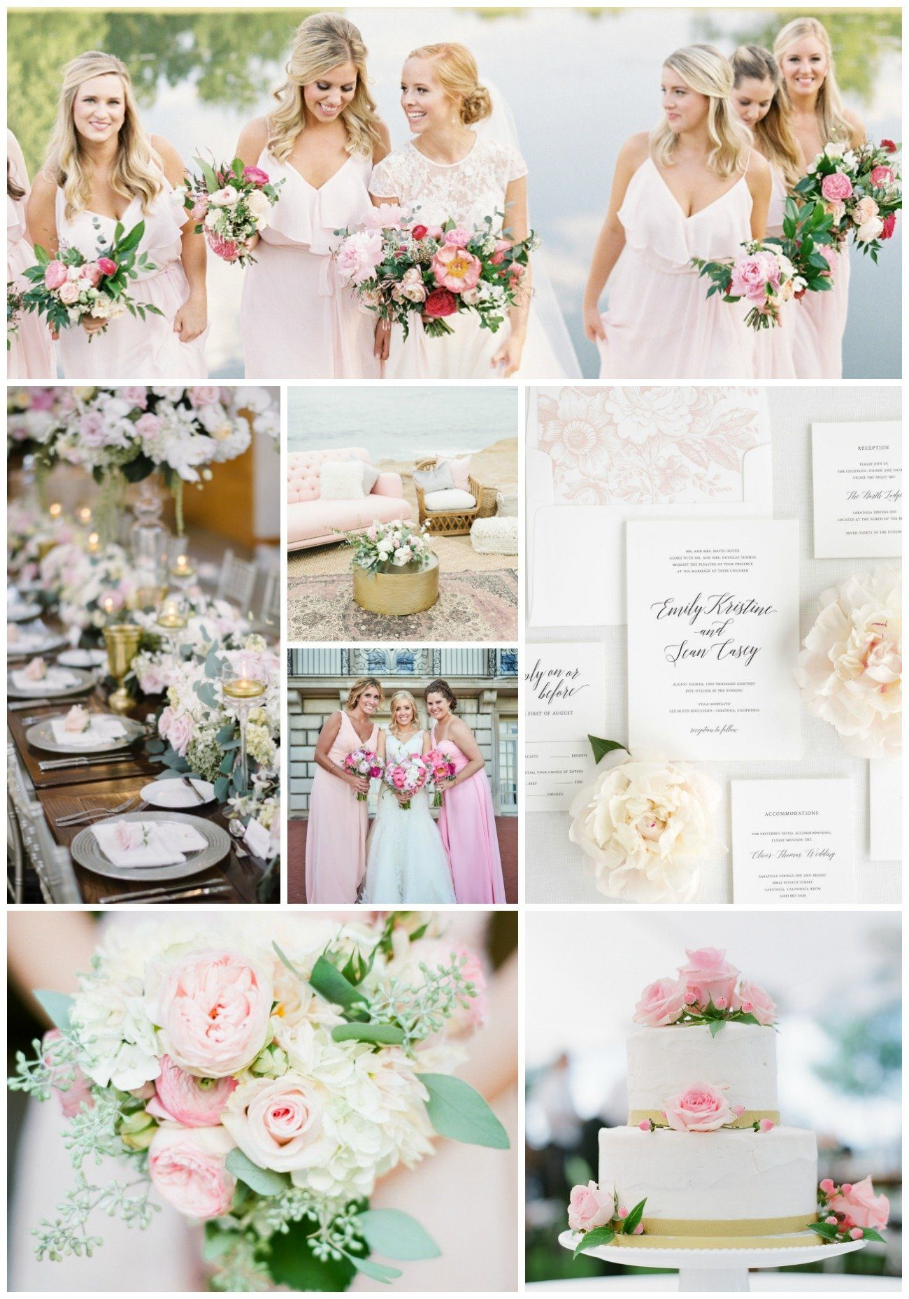pretty pink and floral wedding inspiration