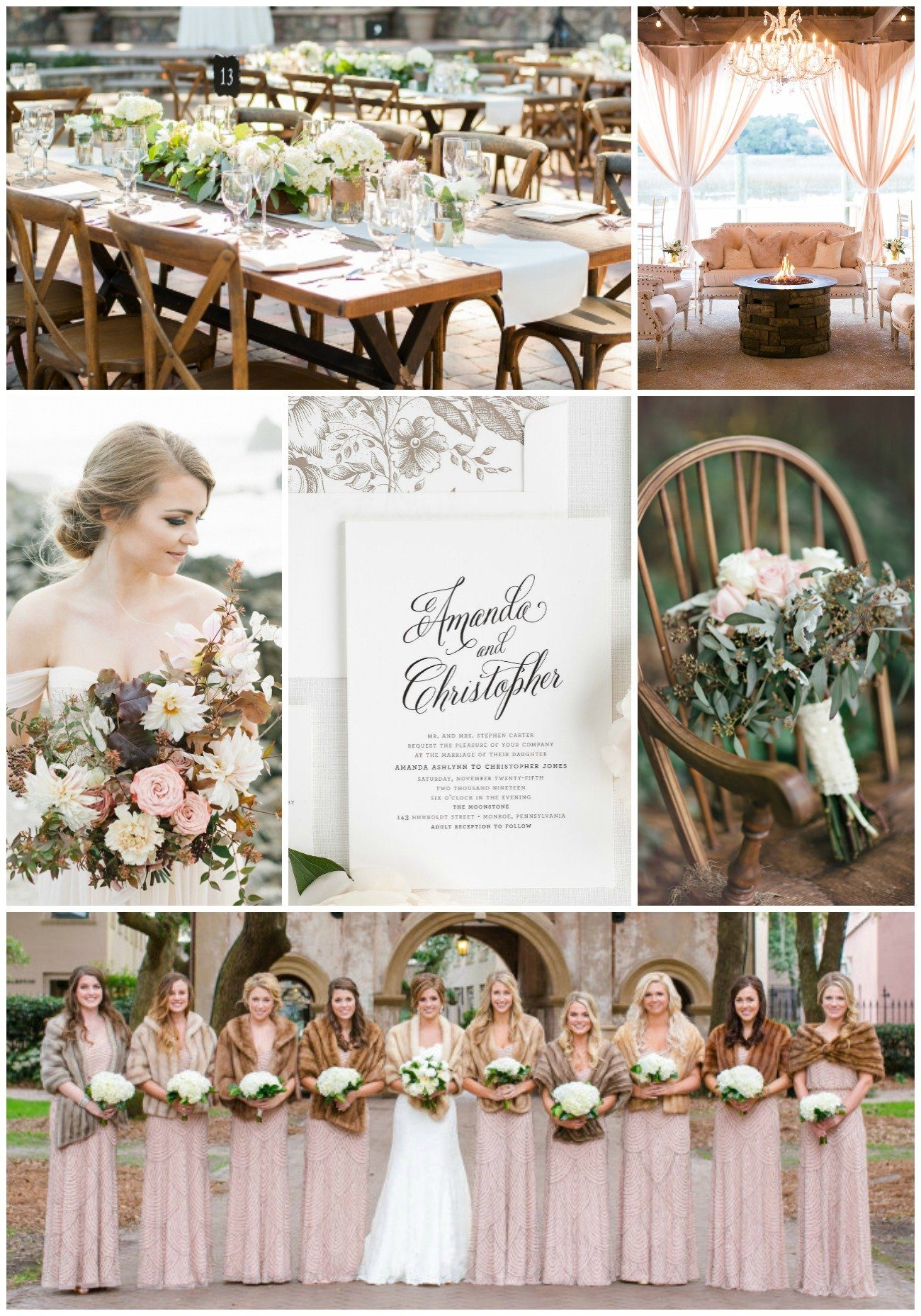 polished and modern rustic brown wedding inspiration