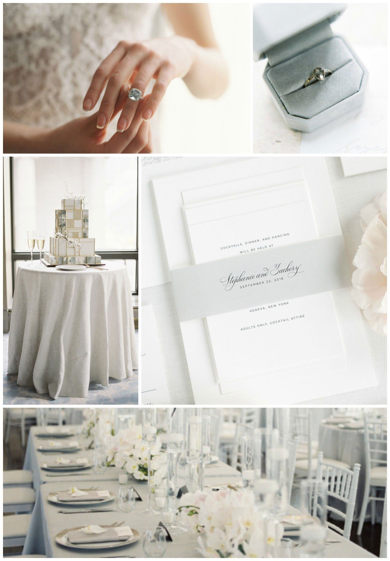elegant gray wedding inspiration
