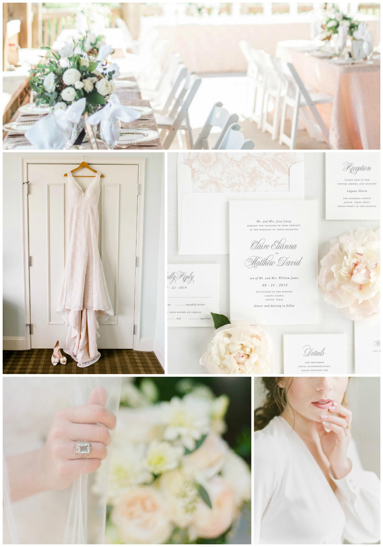airy and elegant garden wedding inspiration