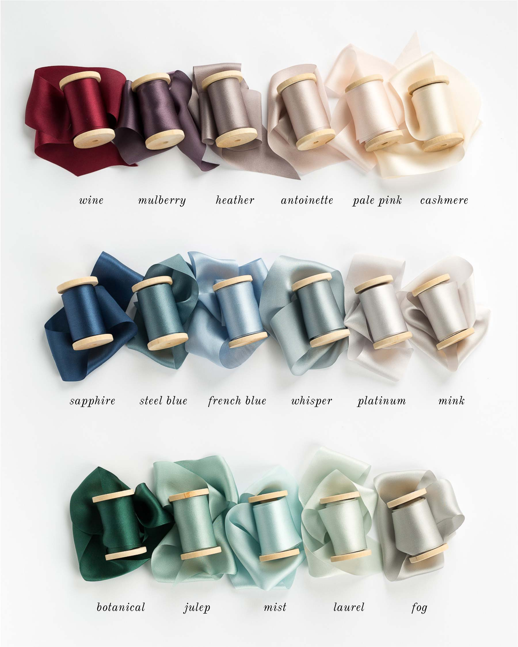 Silk Ribbon Spools