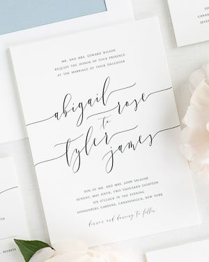 classic wedding invitations - Paper For Wedding Invitations