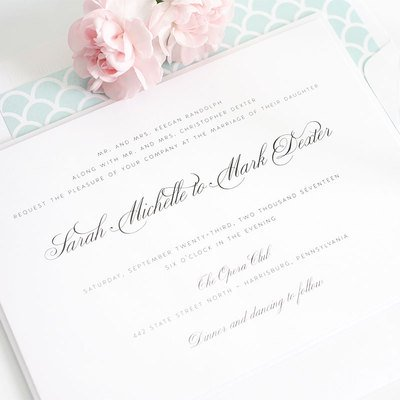 clean simple and elegant is our motto your invite will look fresh this year yet still classic 10 years down the line