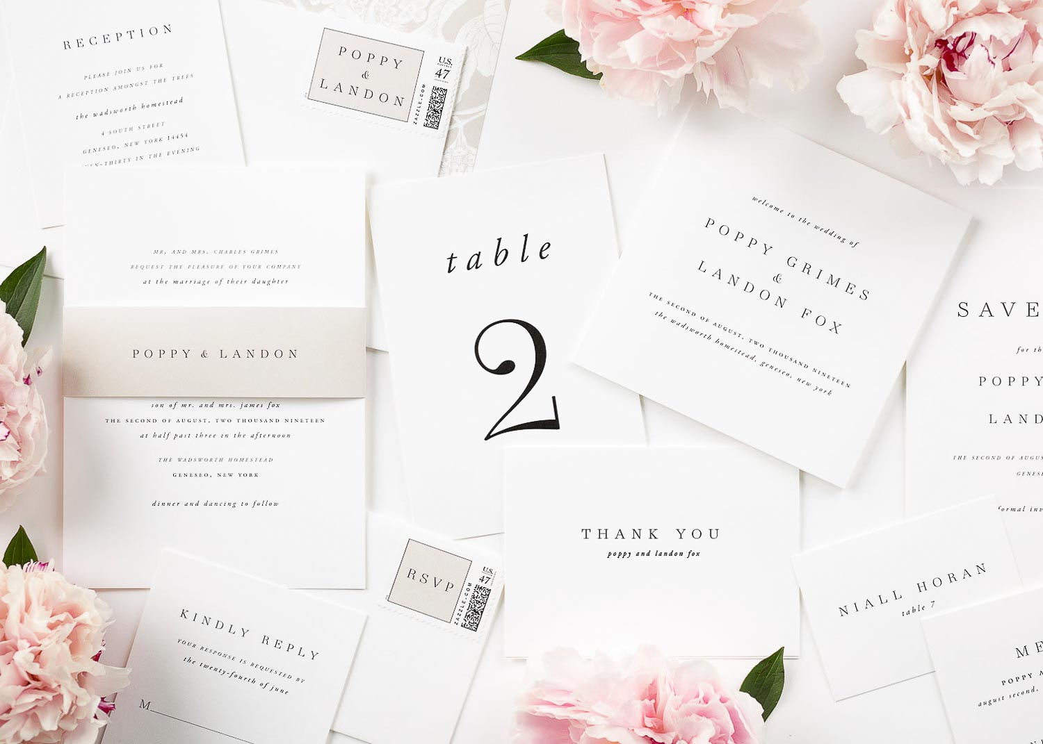 complete wedding invitation package - 28 images - white wedding ...