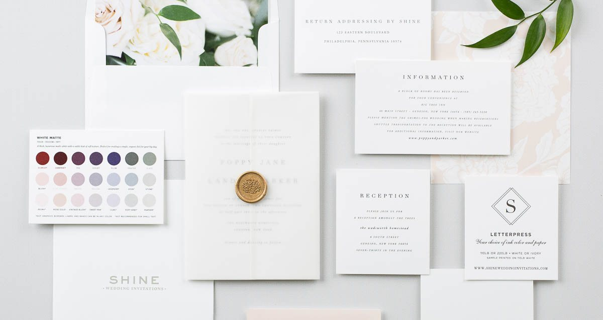 Free Wedding Invitation Samples | Shine Wedding Invitations