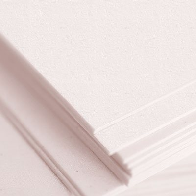 pink cotton letterpress paper