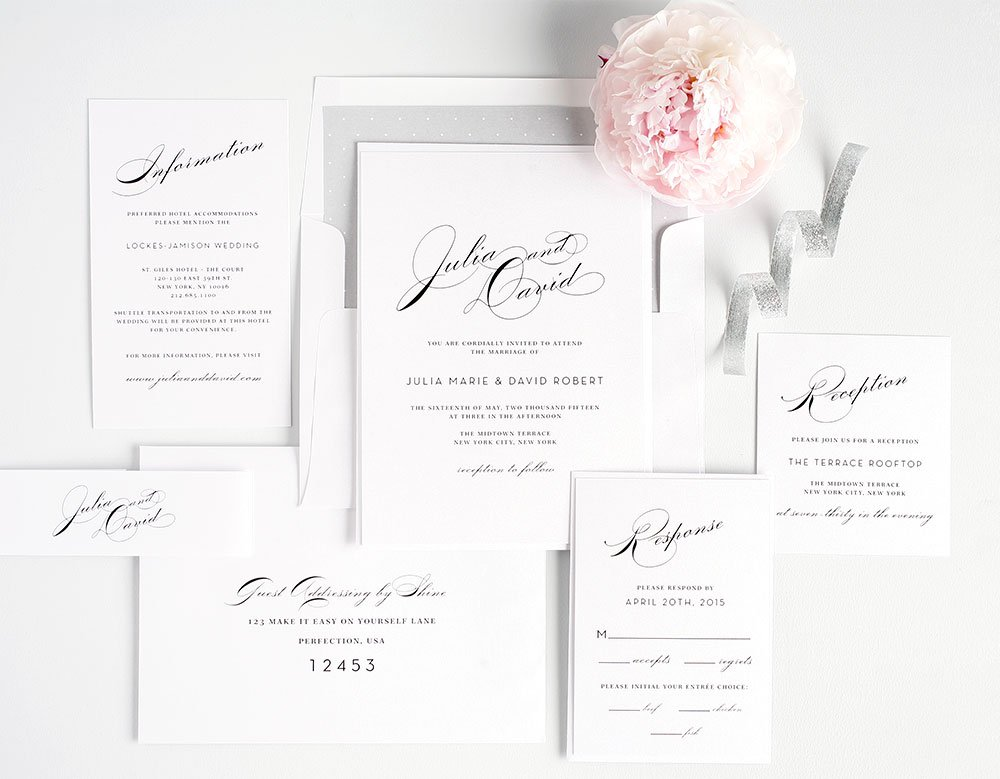 free wedding invitation samples | shine wedding invitations,