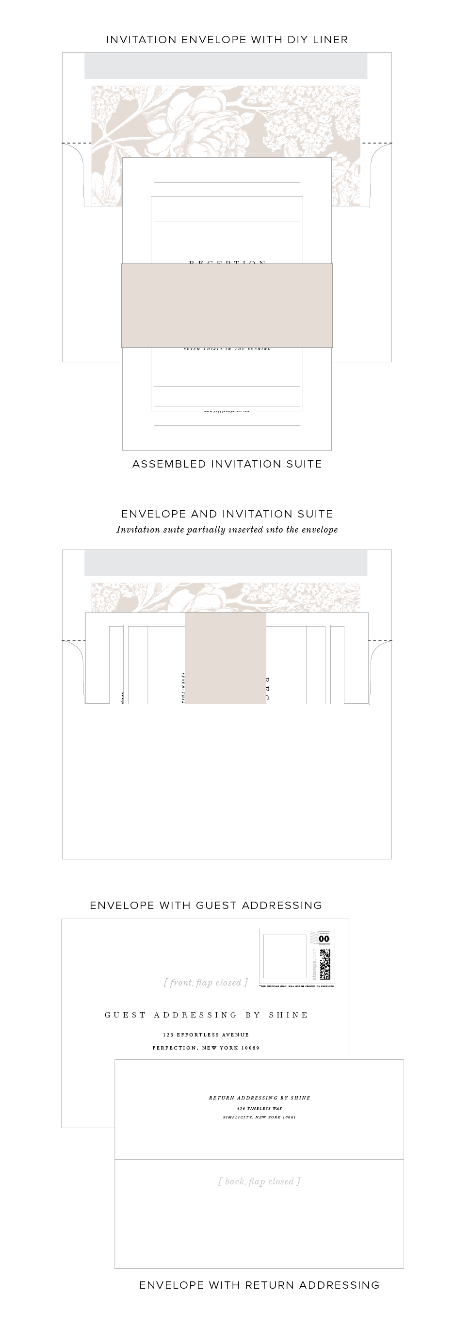 What to Include in a Wedding Invitation | Shine Wedding Invitations