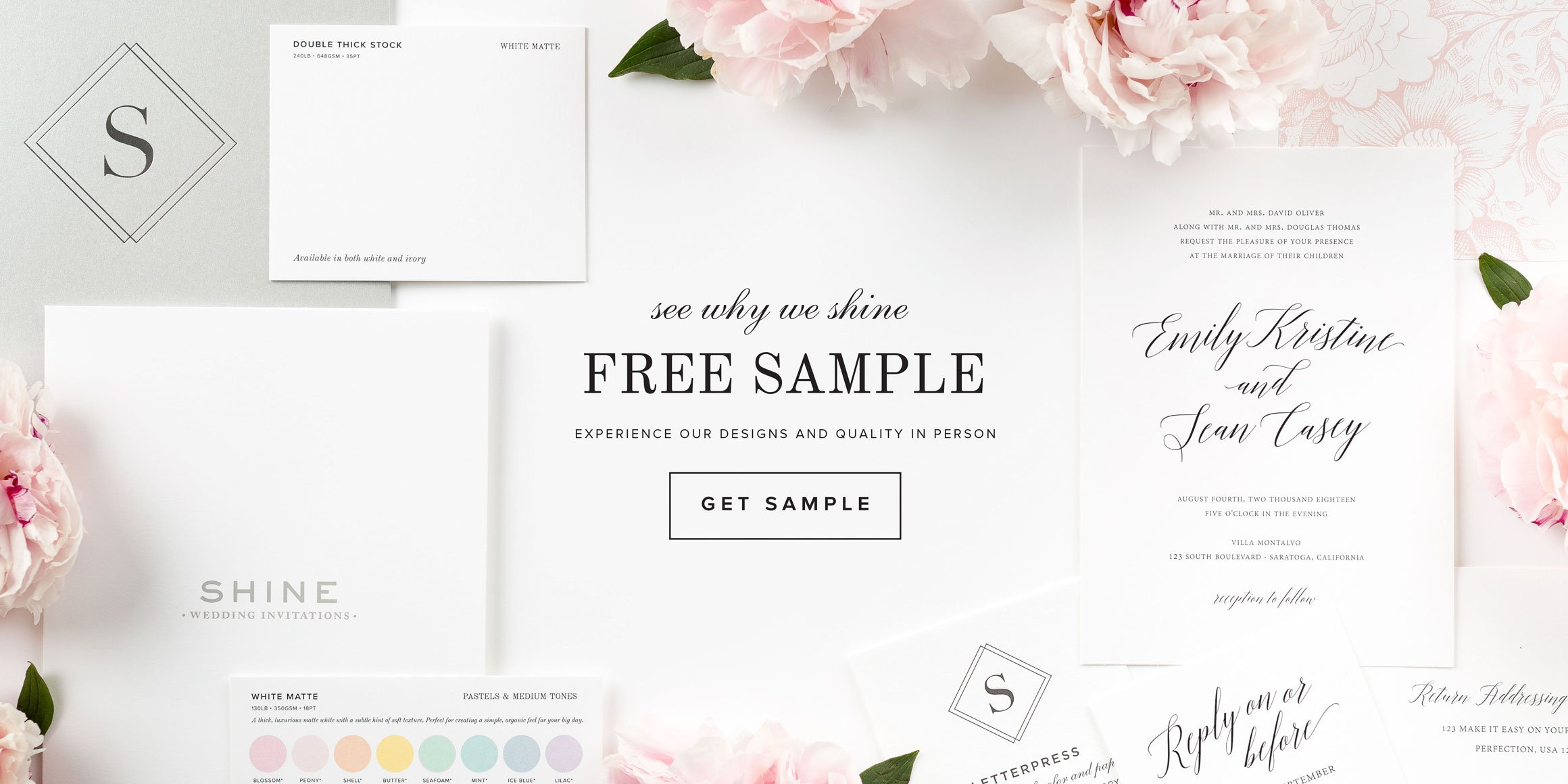 free sample of wedding invitations