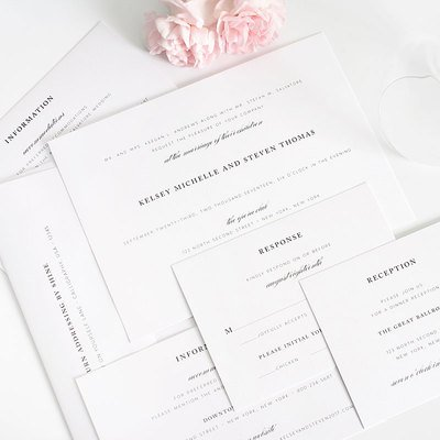 Complete wedding invitation suites