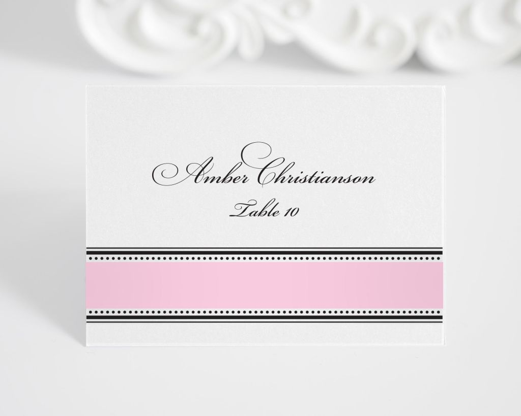 1920s Pink Wedding Place Cards