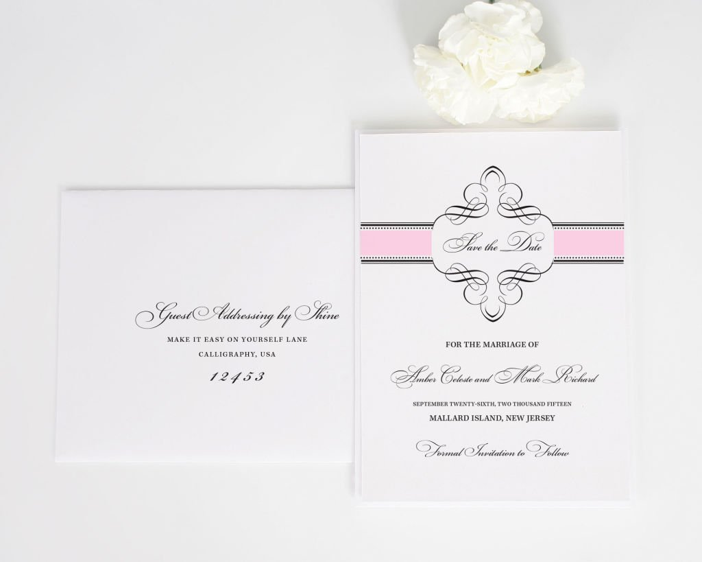 1920s Save the Date with Addressing