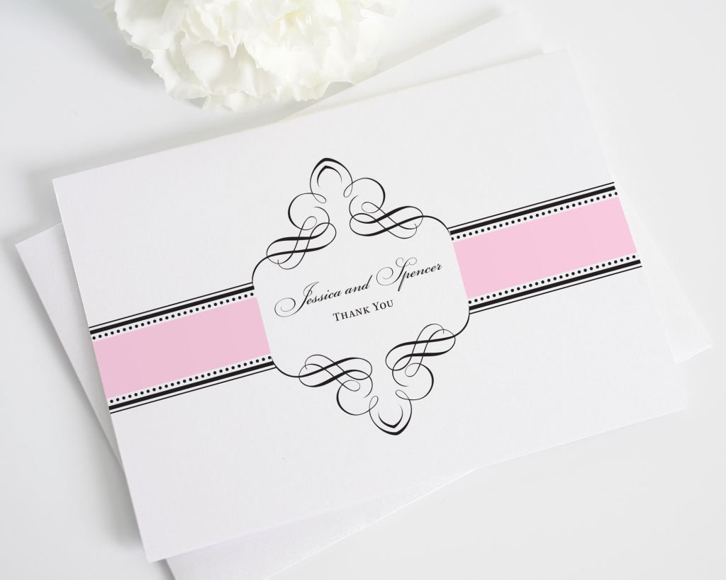 Thank You Cards in Pink