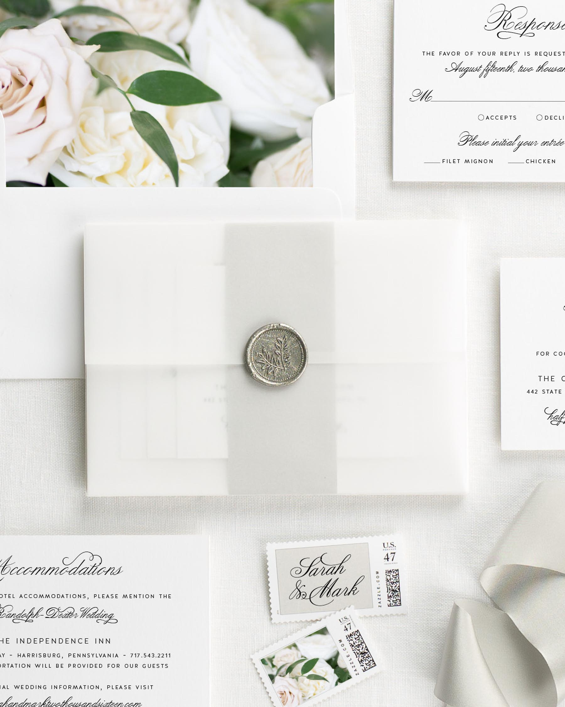 1940s Floral Wedding Invitations - Floral Wedding Invitations by Shine