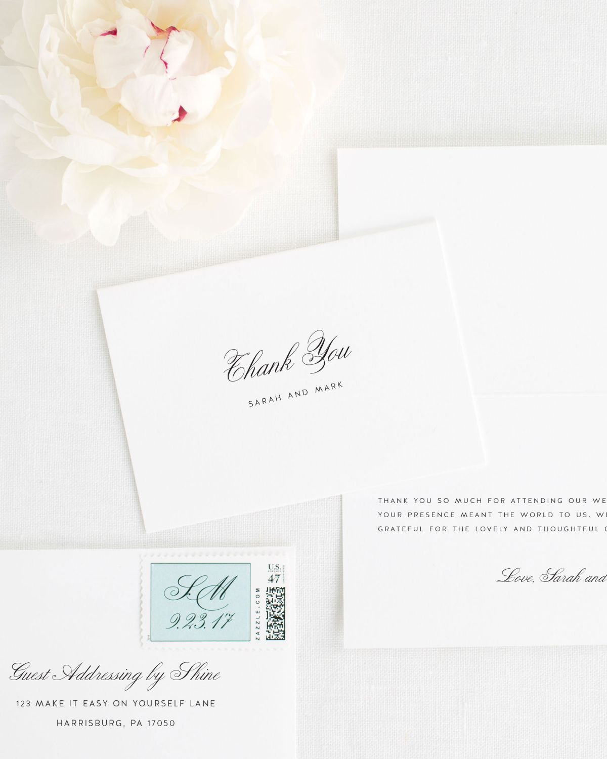 Classic Thank You Cards for Weddings