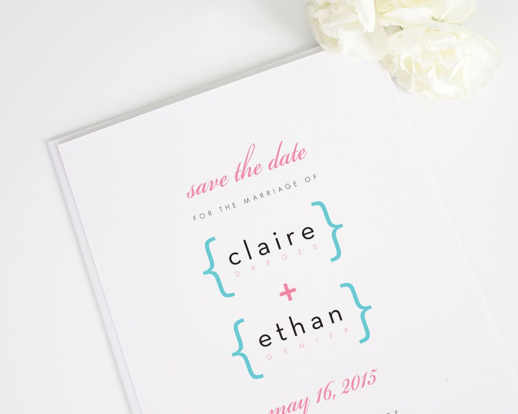 Addition of Love Script Save the Date Card