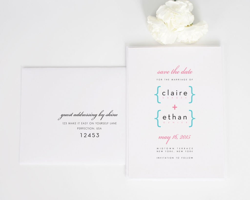 Addition of Love Script Save the Date Cards