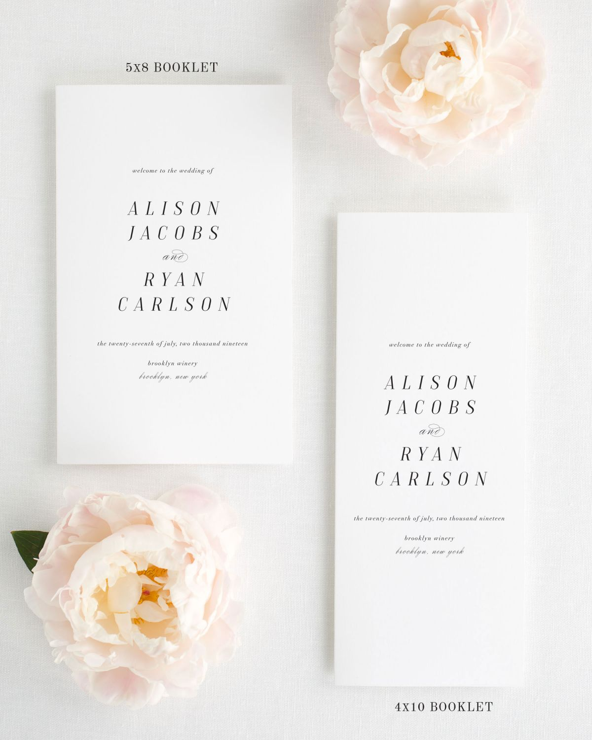 Booklet Wedding Programs