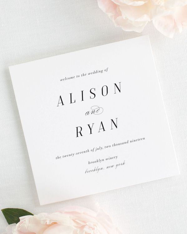 Alison Wedding Programs