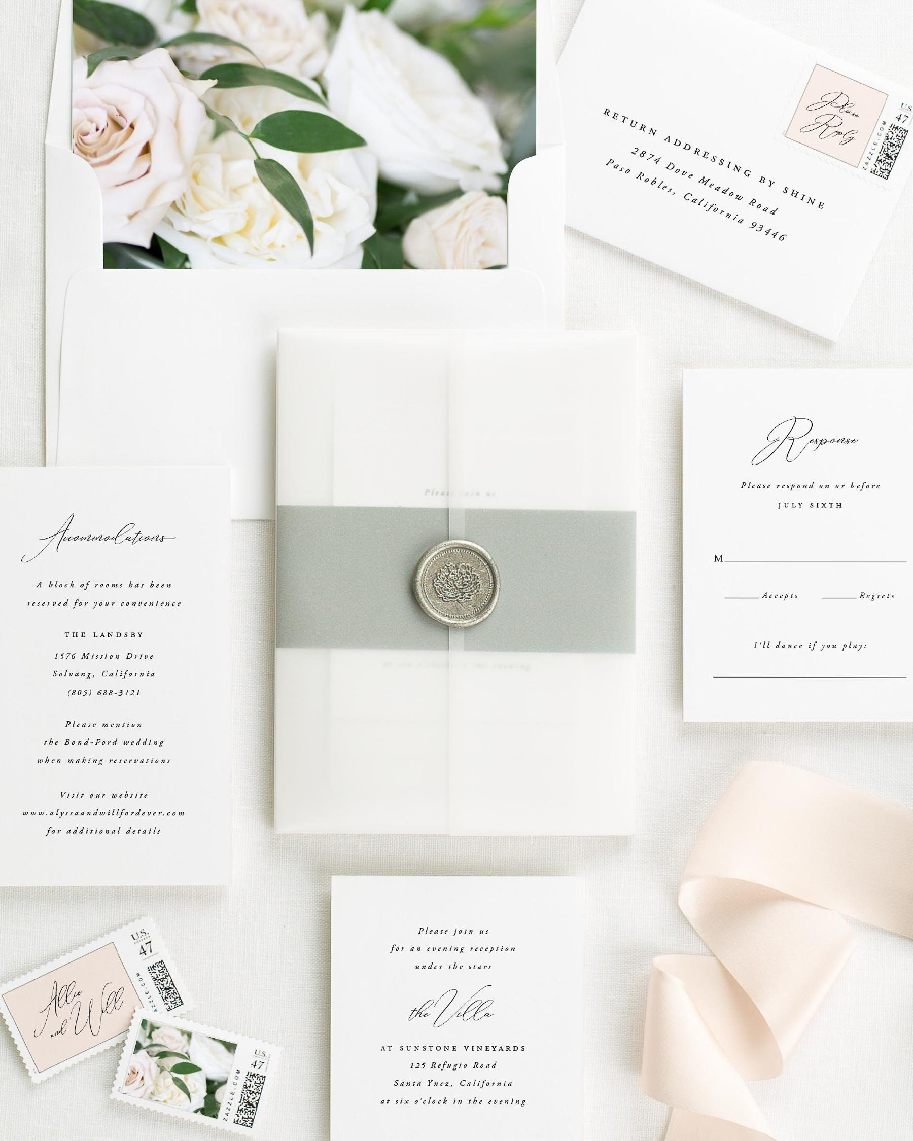 Alyssa Floral Wedding Invitations - Floral Wedding Invitations by Shine
