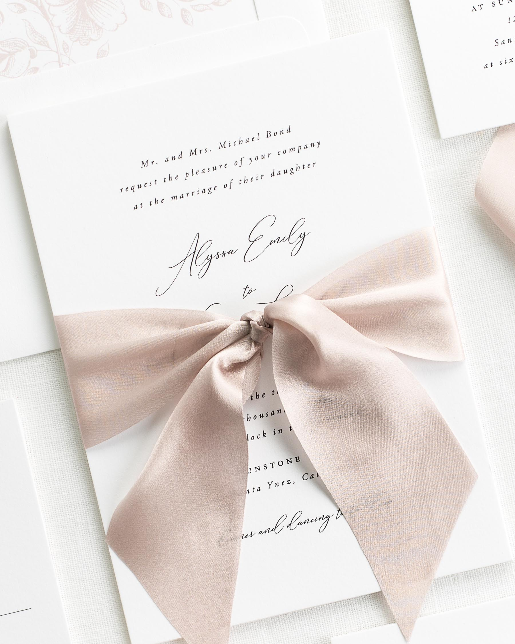 Alyssa Ribbon Wedding Invitations