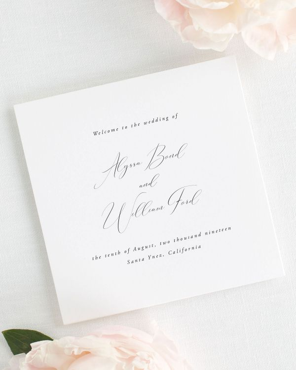 Alyssa Wedding Programs