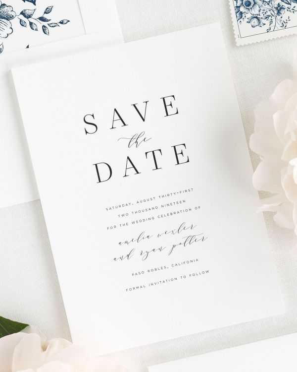 Amelia Save the Date Cards