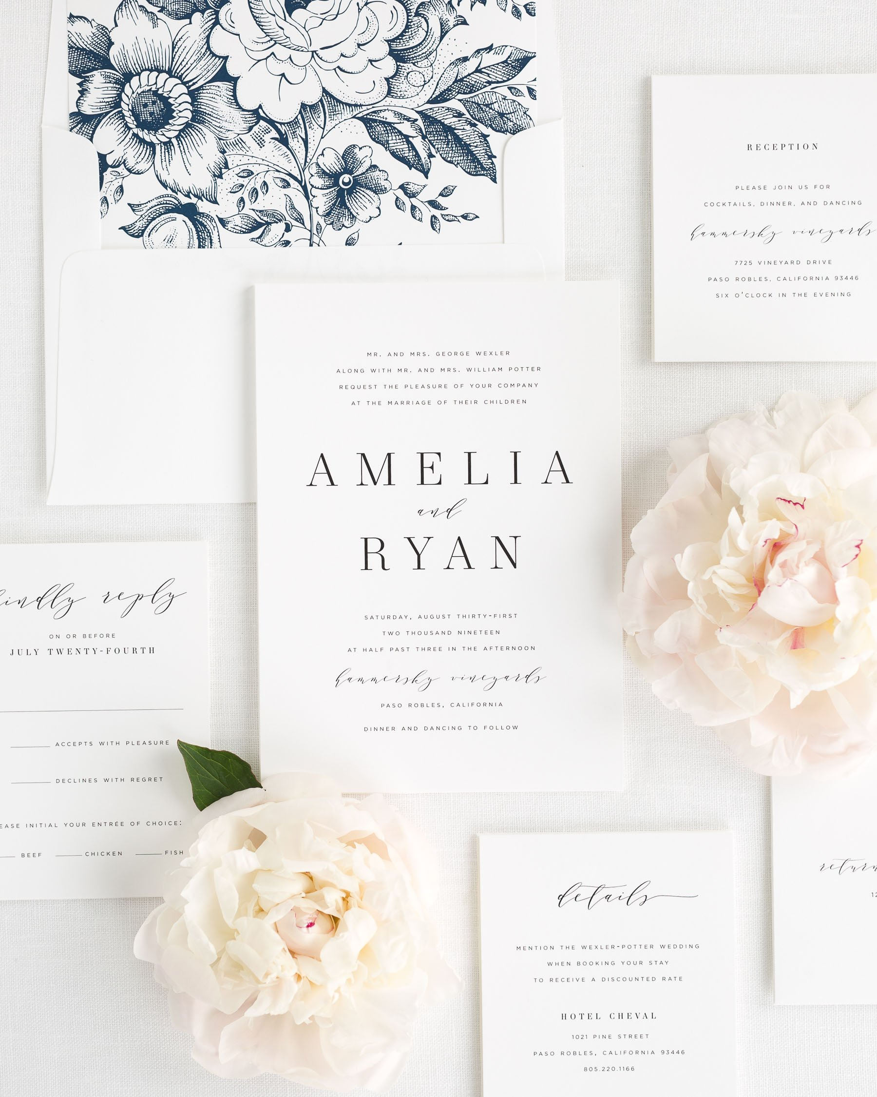 Amelia Wedding Invitations Wedding Invitations by Shine