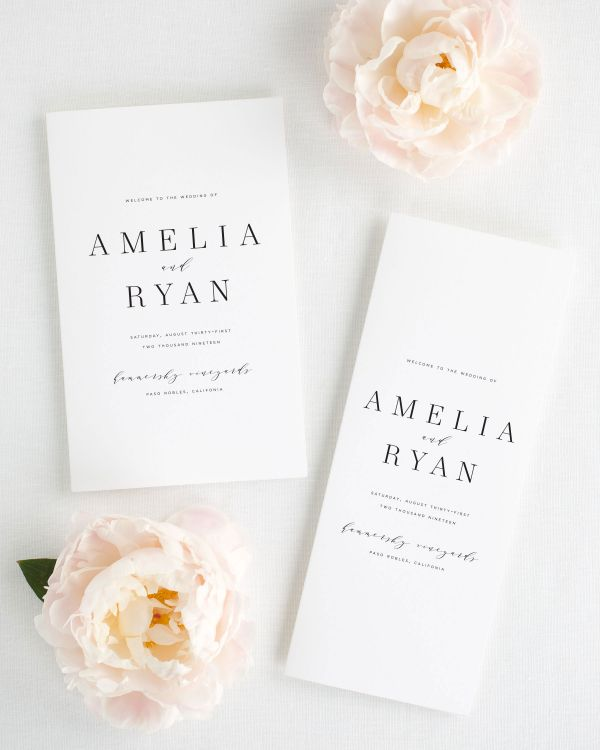 Amelia Booklet Wedding Programs