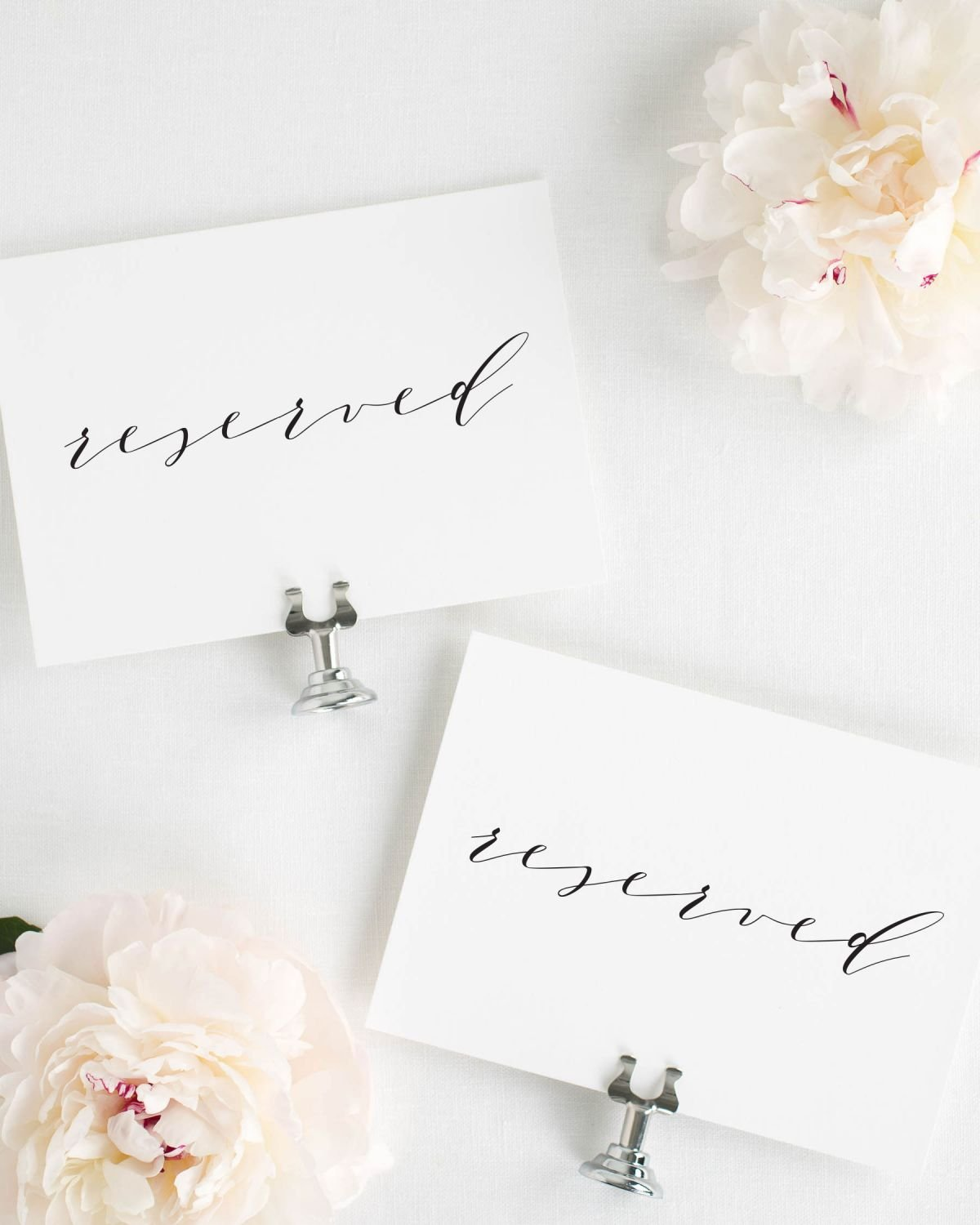 Reserved Wedding Signs