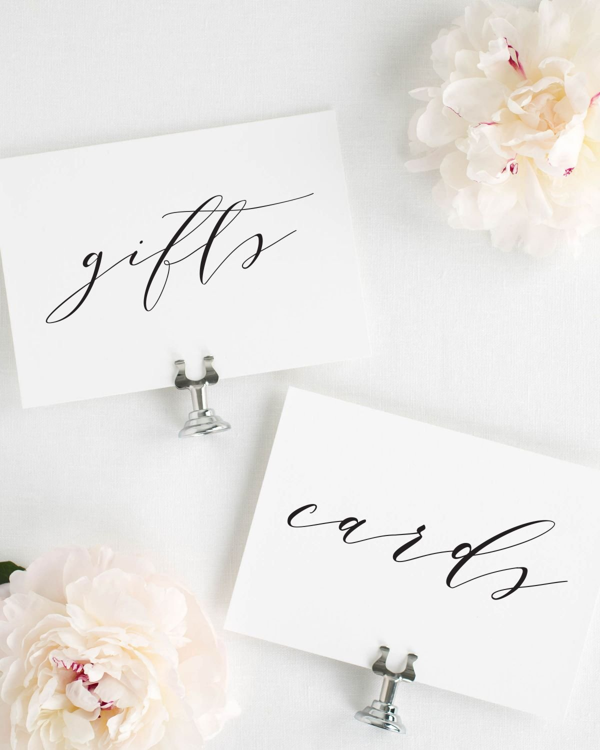 Calligraphy Gifts and Cards Signs for a Wedding