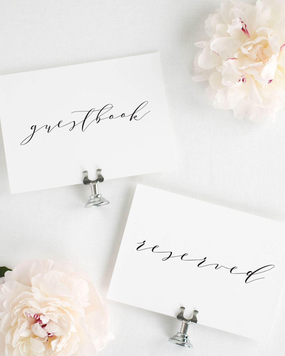 Guestbook and Reserved Signs in Calligraphy