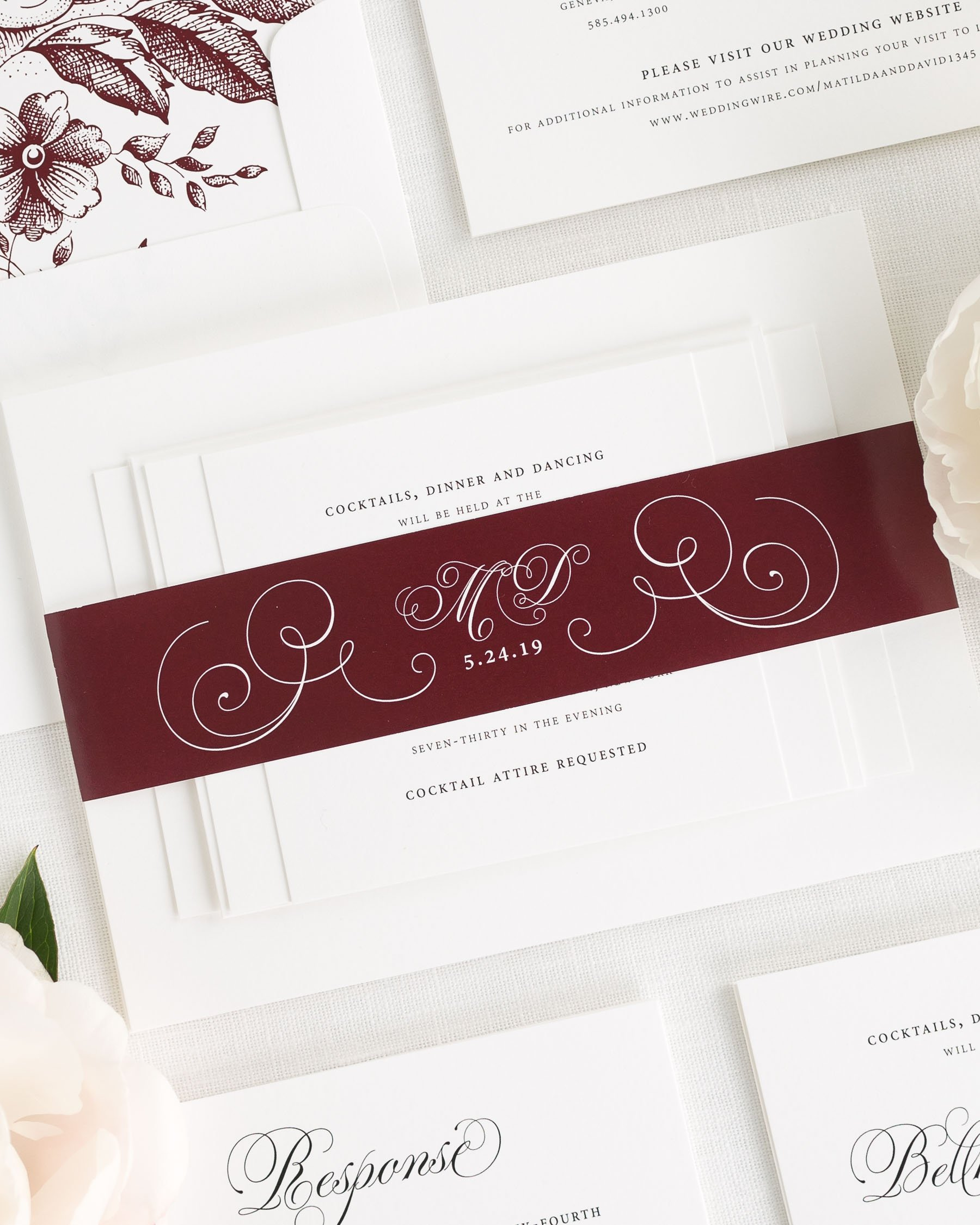 Angelic Script Wedding Invitations - Wedding Invitations by Shine