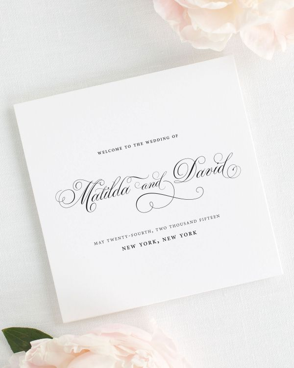 Angelic Script Wedding Programs