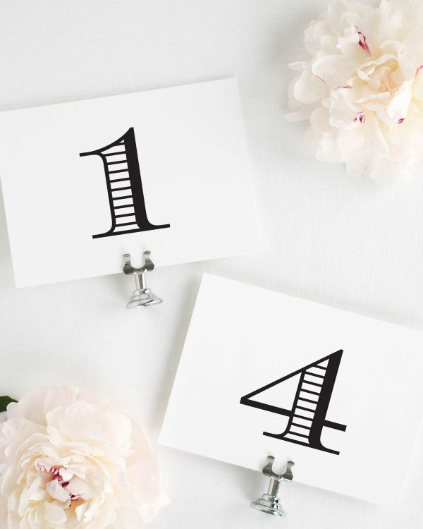 Antique Monogram Table Numbers