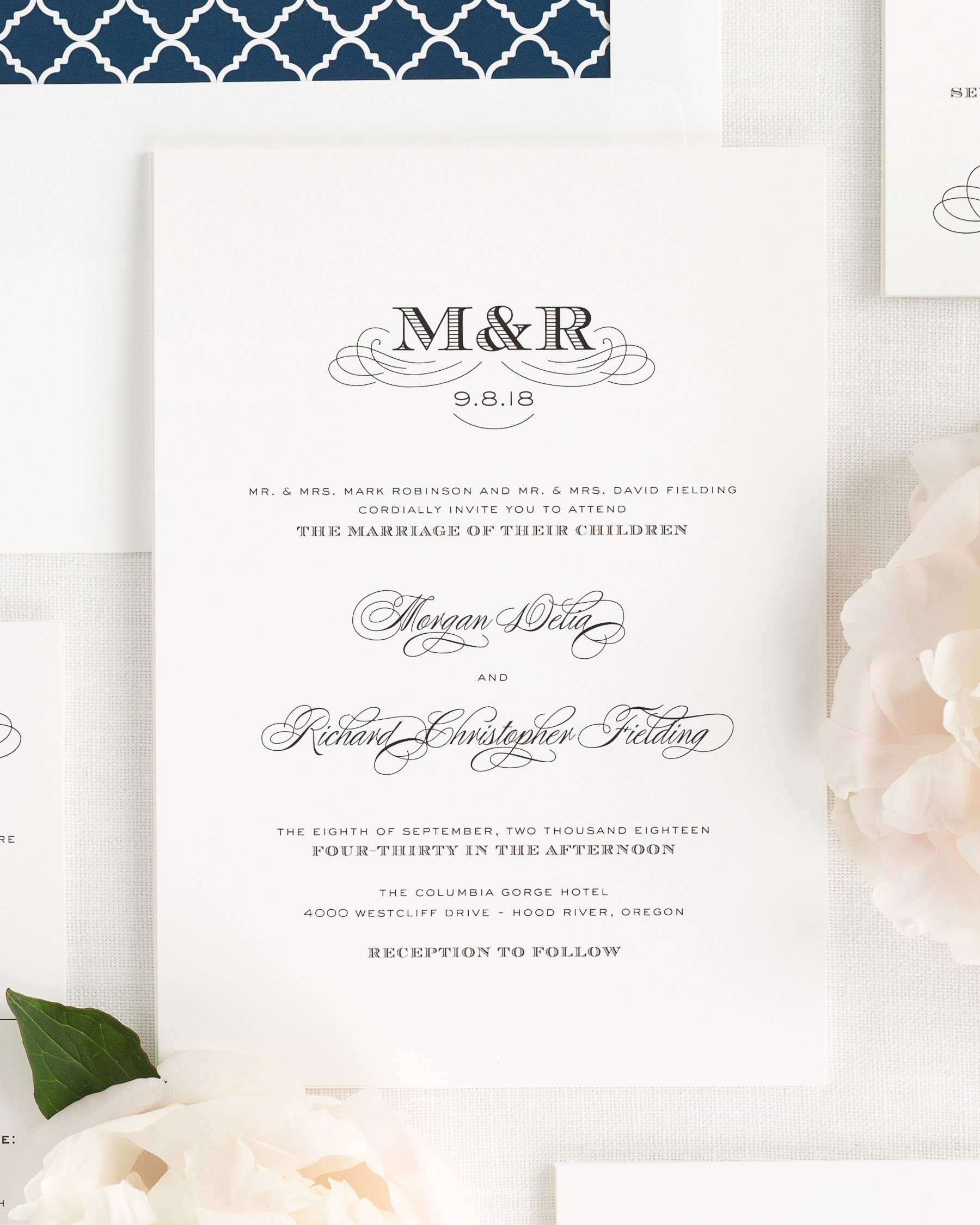 Antique Monogram Wedding Invitations Wedding Invitations by Shine